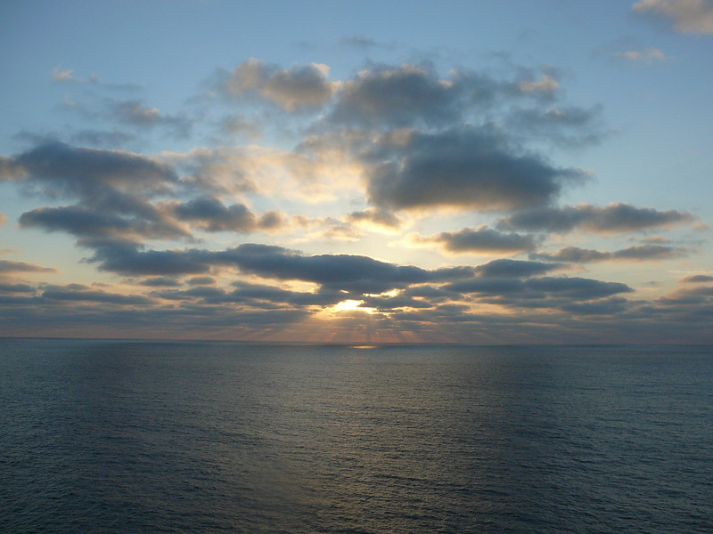 """There's the Beautiful Sunset that Nancy was enjoying and what had her smiling so much. :-)<br /> <br /> Well, Cruise # 5 & our 1st ever """"Mexican Riviera"""" Cruise is done... we had a great time & can't wait for our next sailing!"""