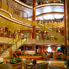 "There's the Beautiful 3 story Atrium on the ""Diamond Princess"" which is one of the first things you see when you step onboard... lots of action happens here during your Cruise and the highlight is the ""Champagne Waterfall"" Party."
