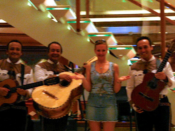 "We must be getting closer to Mexico as Nancy bumped into the ""3 Amigos"". :-)"