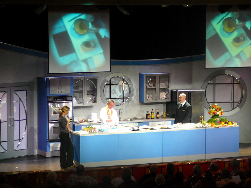 Imagine that, taking a Cruise and you end up at a Live Cooking Show. For those Food Lovers and aspiring Chefs, this event is a can't miss!