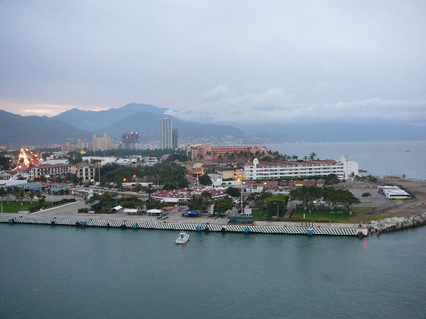 There's a view of Puerto Vallarta as we pulled into the Cruise Ship Pier... it was a little wet that day but we were excited to experience our first of 3 Port days in Mexico.