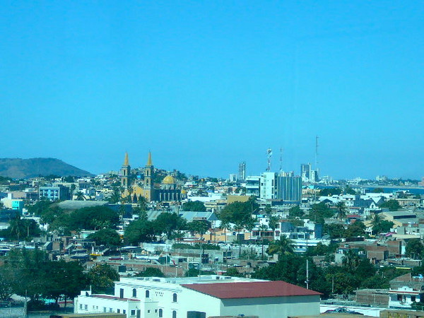 "There's a peek at ""Old Mazatlan"" as we pulled into Port during our 2nd stop."