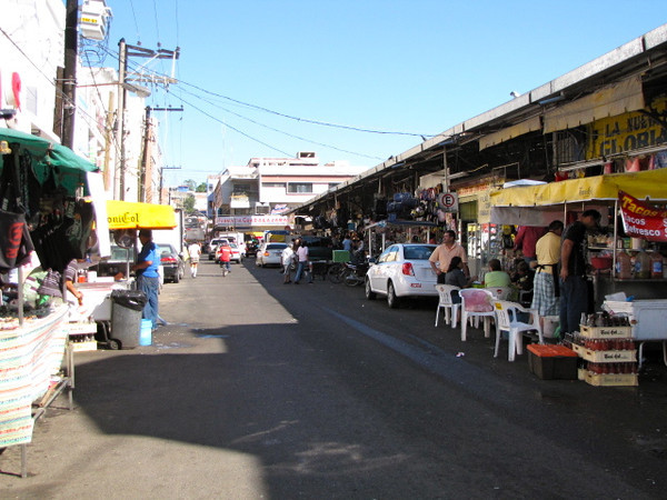 "There's one of the busy streets in ""Old Mazatlan"" where you can shop, grab a bite to eat, etc. with the local vendors. Part of Mexico's charm is places like this as most of us are all bored with typical Shopping back home at the big ""Box Malls"". :-)"