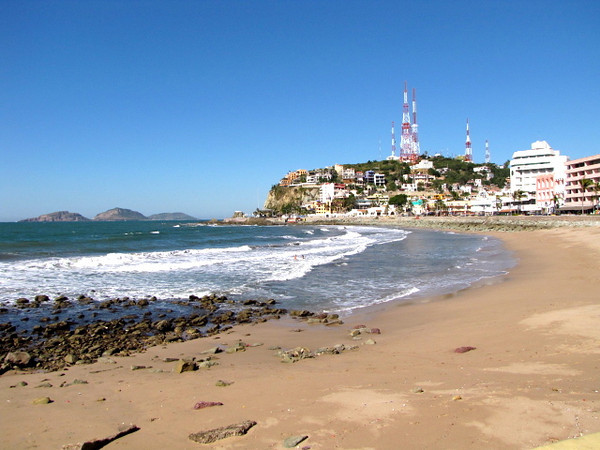 Like much of Mexico's great Resort towns Mazatlan has beaches all around... you'll never have to stroll far to dip your toes in the Sand. :-)