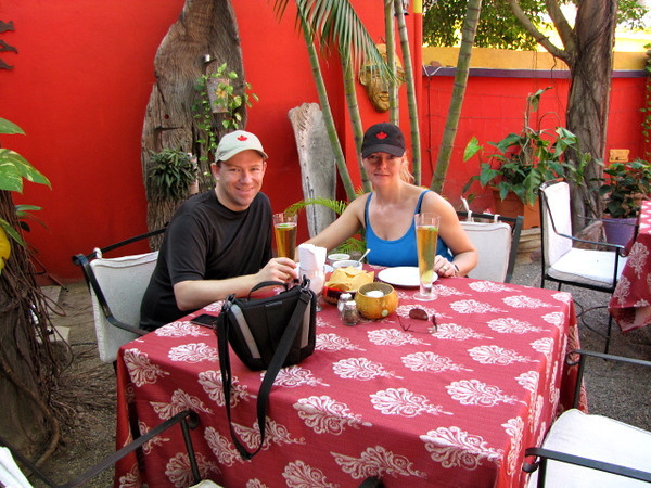 "When in Mexico you just have to stop and have a ""Cerveza"" or 2 and some Nachos & Guacamole... you just have too!! :-)"
