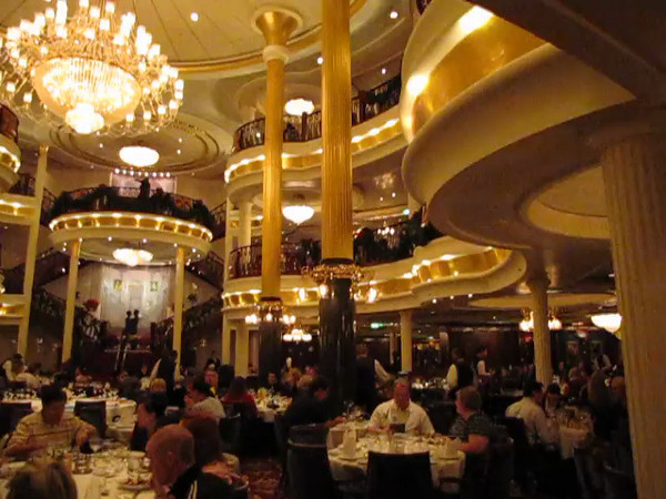 "Definitely one of the nicest Dining Rooms at Sea (and anywhere for the matter), check out this Video footage of the 3 storey  ""Top Hat & Tails"" Dining Room."