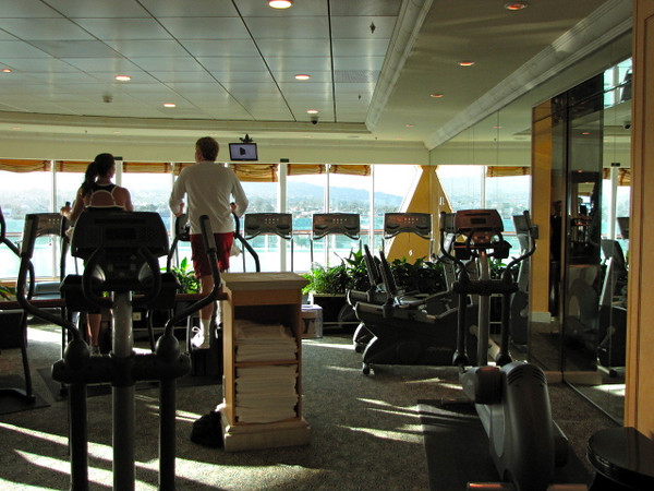 And also in the Spa area is the Fitness Center so no excuses for gaining weight with all the food they give you onboard. :-)