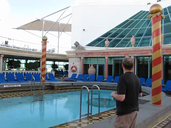 "Here's some Video footage of the ""Solarium"" Pool area near the Spa on Mariner... a great place for a quiet getaway onboard."