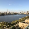 "For our first 2 nights in Egypt Uniworld put us up at the ""Four Seasons Nile Plaza"" Hotel... it's one of the best hotels in town for sure so a great home base while exploring this busy city... as you can see from above, we had some pretty great views of the Nile River from our room!!"