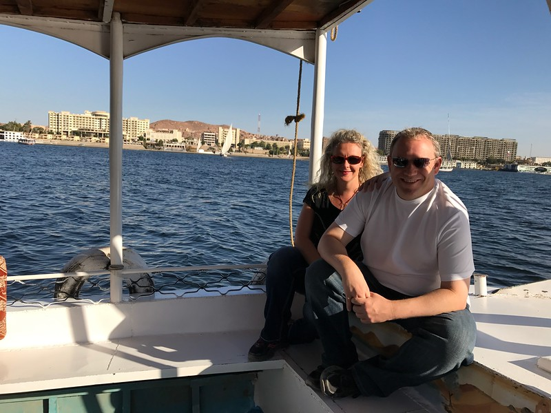"Another fun excursion we enjoyed while on our Nile River Cruise was we sailed in a small boat along the Nile to do a little bird watching and then the ride was capped off by a visit to a local 'Nubian"" village where we visited a traditional home of a local family."