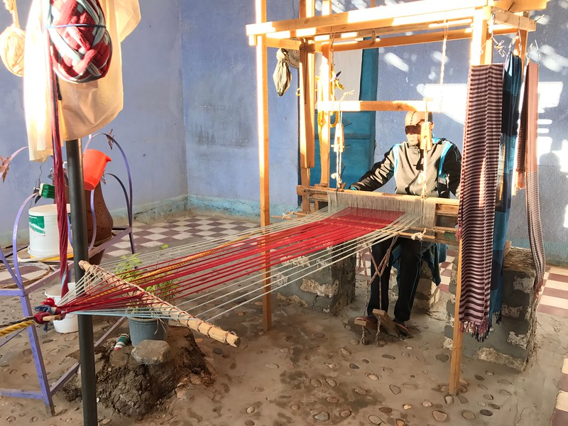 All of the Nubian families seem to have some sort of business they run from their home... this particular family made scarves as well as other unique souvenirs.