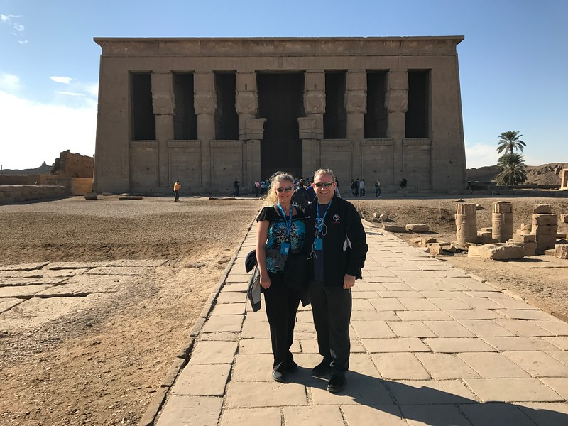 "For our next excursion we visited the ""The Temple of Hathor"" in Dendera... another super impressive place that's known for being one of the best well-preserved Temples in Egypt."