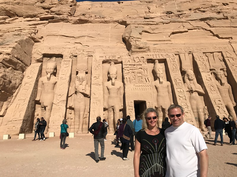 "As you can see above the smaller ""Nefertari"" Temple is just as impressive as the bigger ""Ramesses II"" Temple... the details & size of the statues that stand guard are truly impressive!"