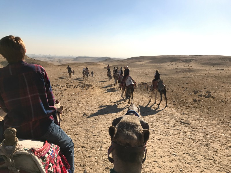 It really was quite the experience to ride one of these guys while taking in views of the desert & pyramids!
