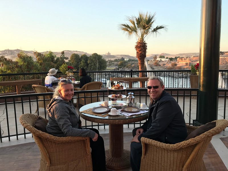 "Of course, sailing by the Old Cataract Hotel wasn't enough, Uniworld made sure to treat us to ""Tea Time"" there as we watched the sun set over the Nile... overall it was a great day from start to finish for sure!! :-)"