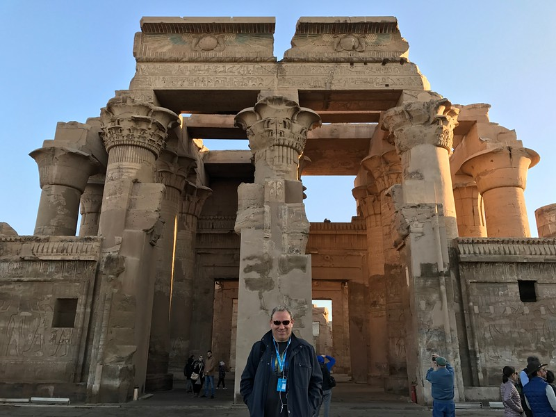 "After spending a couple of days exploring all the sites Luxor had to offer we started sailing down the Nile river... for our first stop the above  ""Kom Ombo Temple"" was literally a 2min walk from our ship... talk about having great views outside the windows of the ship! :-)"