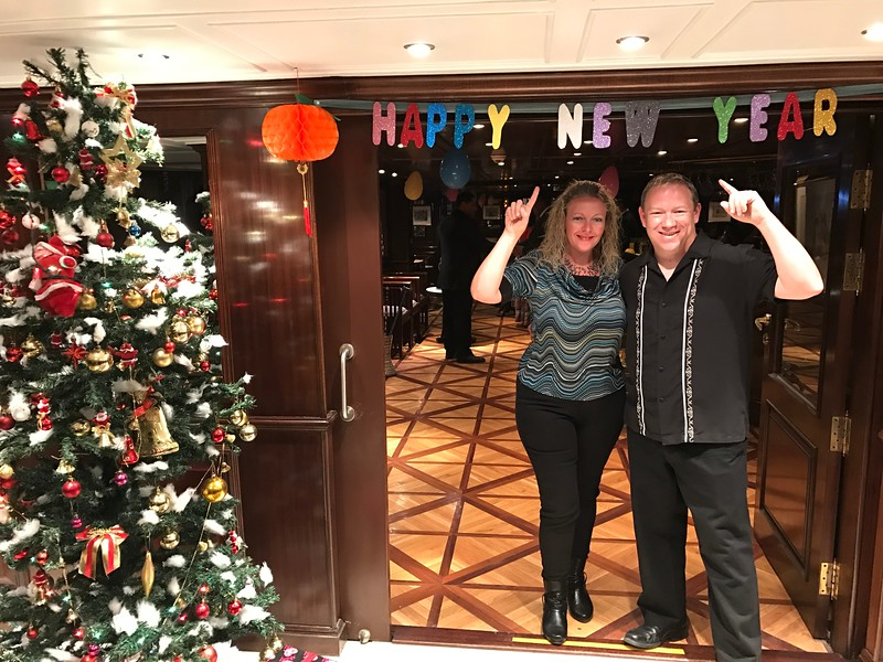 FYI, this was maybe our 3rd or 4th Cruise during Christmas & New Years... if you've never experienced that before we encourage you to as the ships always do lots of fun things to celebrate like special dinners, special parties, etc.! :-)