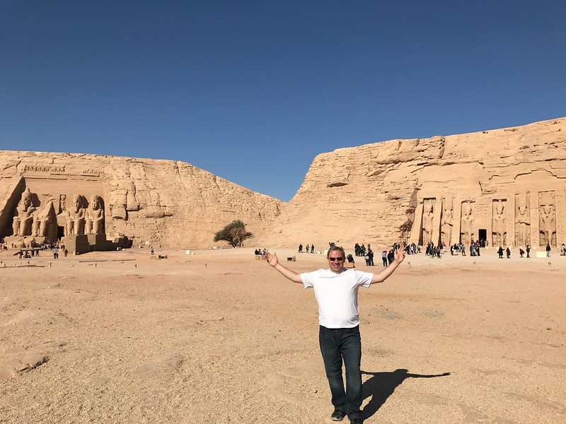 """As you can tell by Shawn's demeanor we had a pretty great day visiting the temples of """"Abu Simbel""""!! :-)"""