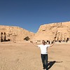 "As you can tell by Shawn's demeanor we had a pretty great day visiting the temples of ""Abu Simbel""!! :-)"