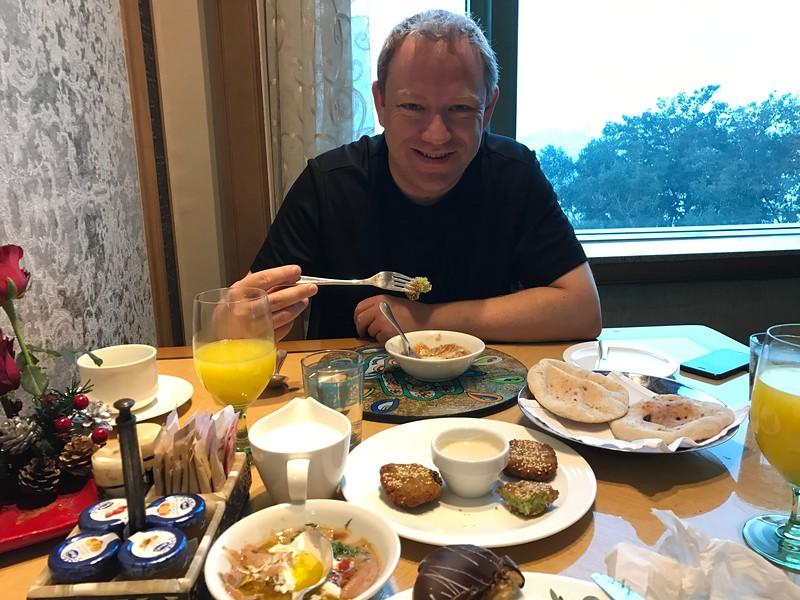 The next morning at the Four Seasons our waiter encouraged us to try some local Egyptian breakfast items and we're glad he did as they were very yummy!