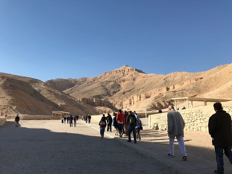 """One of the most unique things we saw near Luxor was the """"Valley of the Kings"""" which is an area used for royal burials for almost 500 years. It had over 60 tombs there and we got to go inside to check 4 of them out."""