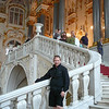 Shawn's excited... here we are going up the Main Staircase at the Hermitage... with almost 3 million items on display at the Hermitage we'll only be catching a glimpse today of what she offers.