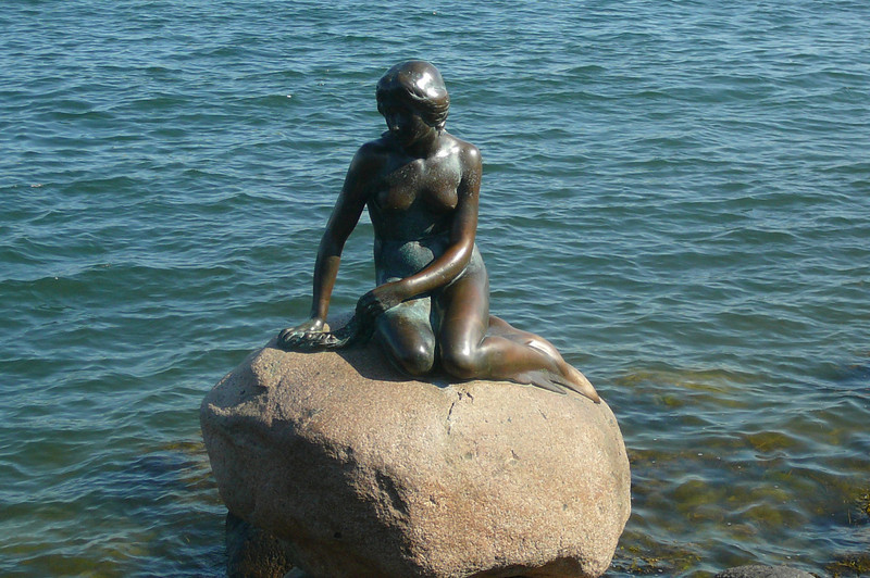 """No trip to Copenhagen would be complete without a visit to the Famous """"Little Mermaid"""" Statue!! A tribute to Hans Christan Andersen."""