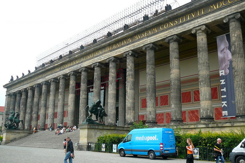 """Here's one of the several Beautiful Museums on """"Museum Island"""" in Berlin."""