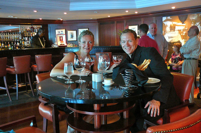 "There we are enjoying our 1st Night at one of Azamara's 2 specialty Restaurants... ""Prime C"". This Steakhouse was awesome... we ate there on 3 different nights."