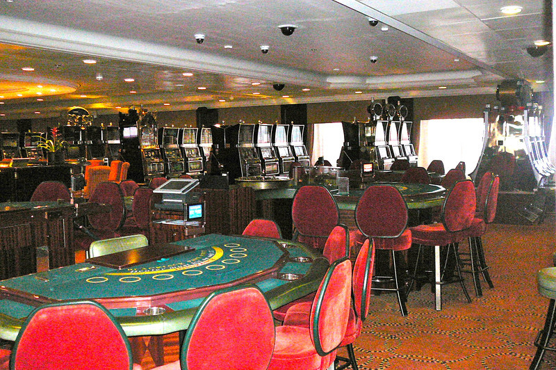 "Shawn woke up at about 3:30am the morning we were approaching St. Petersburg, Russia so he figured now was as good a time as any to take some pics to help our site visitors get an idea of how Beautiful the ""Azamara Journey"" truly was... here's a shot of the Casino."