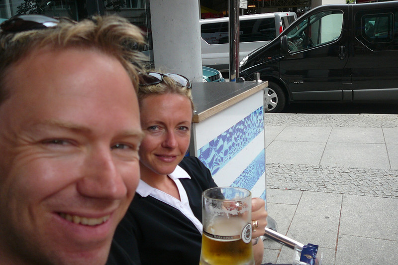 "When in Germany it's only fitting to have a German Beer... who are we to say ""No""? :-)"