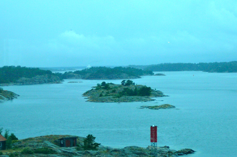 One of the best parts of Cruising in and out of Stockholm is the scenic sailing through the Archipelago (collection of 12,000 Islands). Here's a glimpse of some of the Beautiful scenery we experienced during our several hour sail out.
