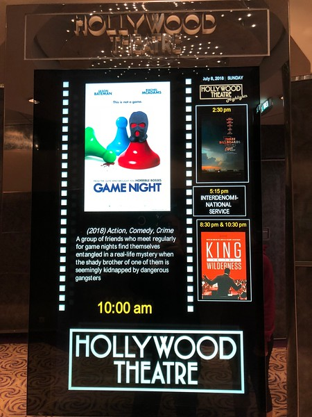 """Are you a Movie lover but don't enjoy watching them from your bed when on a Cruise?<br /> <br /> If so, no worries, """"Crystal Serenity"""" has it's own Theatre onboard to give you that real """"Movie Feel""""... Free Popcorn and All!! :-)<br /> <br /> FYI, they also hold mass in here, """"Live"""" events such as the """"World Cup"""" when we were onboard, etc. so it's a multi-purpose venue with always something interesting to check out there!"""