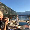 "Our next port stop was in Flåm, Norway... as you can see from Nancy's view at Breakfast at the back of ""Serenity"", the scenery as we made our way into port was truly breathtaking!!"