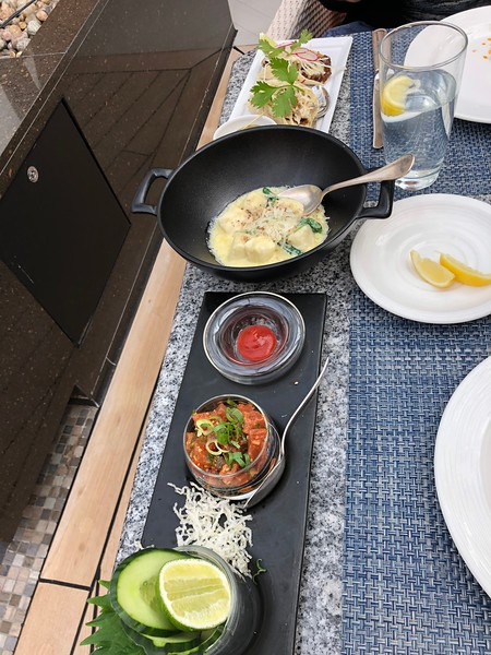 """Although when you're onboard this isn't the menu they'll be serving (again, it changes in Oct, 2018) we had to show you some of the nice dishes we enjoyed at """"Tastes""""! :-)<br /> <br /> """"Ahi Tuna Poke"""", """"Ricotta Nocchi"""", """"California Street Tacos""""..."""