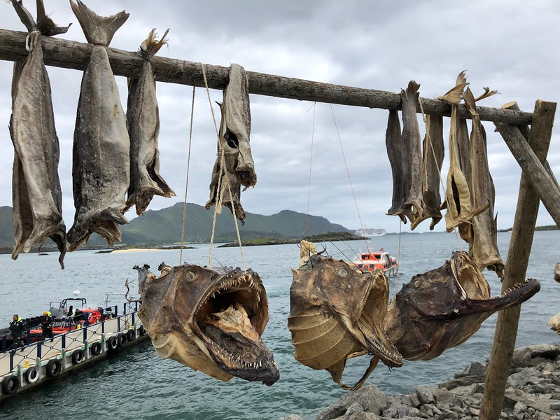 Another unique thing was seeing the fish hanging to dry... not something we see in our part of the World! :-)