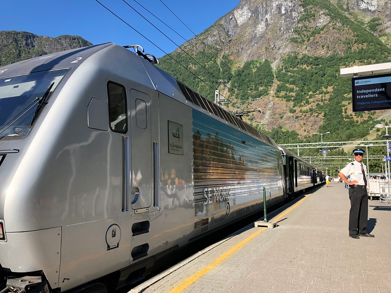 The highlight of any visit to Flåm though is for sure the train ride you can take from there... it's a 2hr round-trip excursion that takes you from sea level up through the mountains to experience some of the best scenery Norway offers!