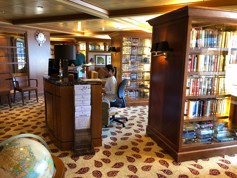 """""""Lazy Day"""" & you want to simply read a book, listen to a good audio book or watch a Movie... that's all available at Crystal's onboard Library.<br /> <br /> They had over 2,000 movies in their collection... WOW!"""