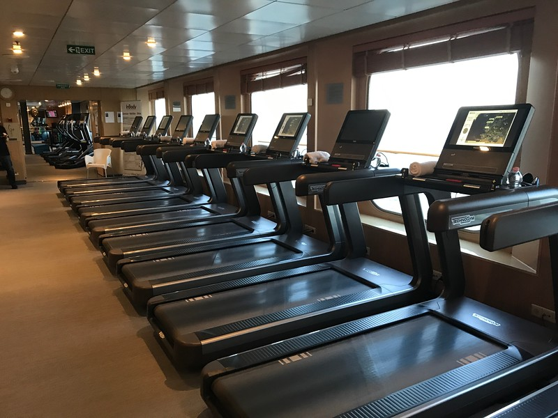 """If you're like us & you like to stay active when Cruising there's a full gym onboard """"Crystal Serenity"""" with lots of treadmills, bikes, etc. as well as complimentary spin classes, yoga classes, etc.<br /> <br /> If you visit here you can then go enjoy all the food we did when onboard... """"Guilt Free""""!! :-)"""