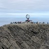 """There it is, the Globe at the """"North Cape"""" symbolizing that you're at the top of Europe!"""