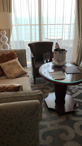 """If 269 sq feet isn't big enough for you, no problem... Crystal Serenity has 2 more decks of bigger Suites onboard from 367-982 sq feet, all which include personal Butler Service.<br /> <br /> Here's a video of one of their 367 sq foot """"Penthouse with Verandah"""" rooms."""