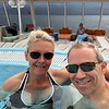 "Enjoying a comfy Hot Tub during a ""Sea Day"" as you sail around Norway... now ""That's the Life!!"" :-)"