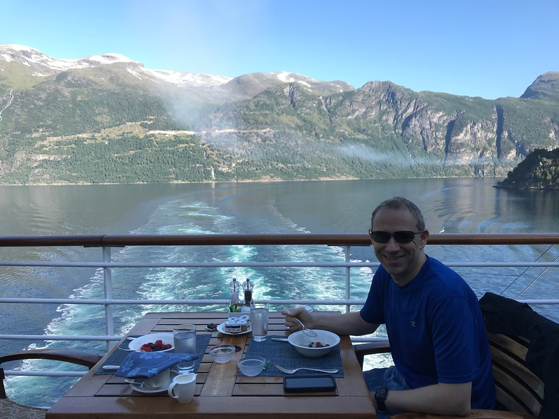 We're sure a picture doesn't capture how nice this was but if you ever get the chance to have breakfast at the back of a Luxurious Cruise Ship while sailing through a serene area like this, go for it, as it's truly an experience of a life-time you'll never forget!