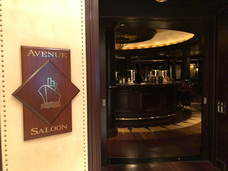 """Like on all Cruises """"Crystal Serenity"""" has lots of places to enjoy an """"Adult Beverage"""" amongst friends... here's a spot to do just that when onboard... the """"Avenue Saloon"""" which features a live Piano player... a popular spot for sure!!"""