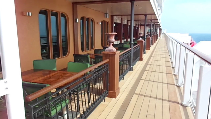 "We're lovers of outdoor dining so ""The Waterfront"" is definitely one of the new features onboard Breakaway that we thought was extremely cool! :-)"