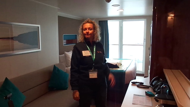 "Here's a Live ""Walk Through"" of our Balcony room on the Breakaway... it was room # 13272... a Category BC."
