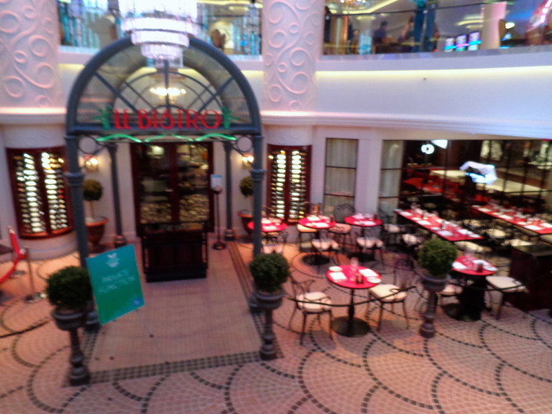 """There's another classic restaurant you'll see onboard all Norwegian ships... the """"Le Bistro"""" French Restaurant... lamb chops, yummy! :-)"""