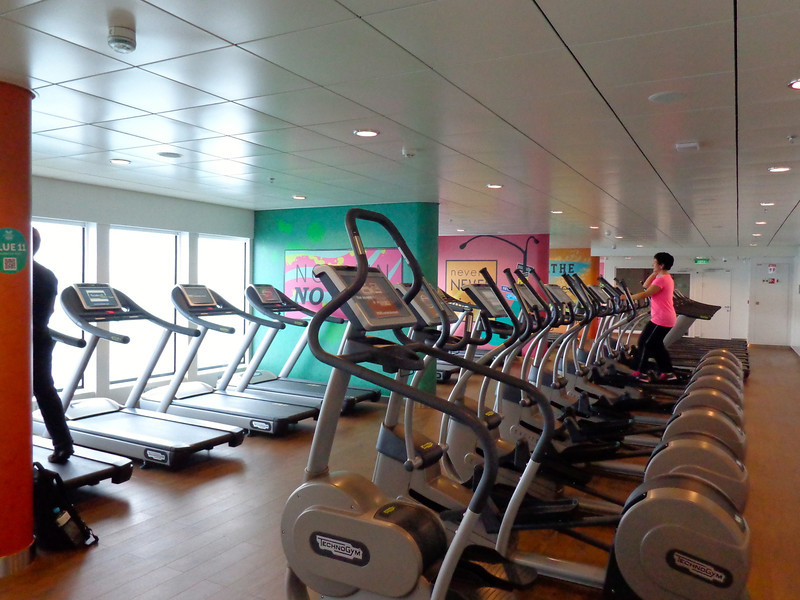 And when you're done at the buffet, you can head to the gym to work those calories off. :-)  Seriously though, there's no lack of gym space on Breakaway, there's more equipment onboard there then some land-based gyms we've seen!