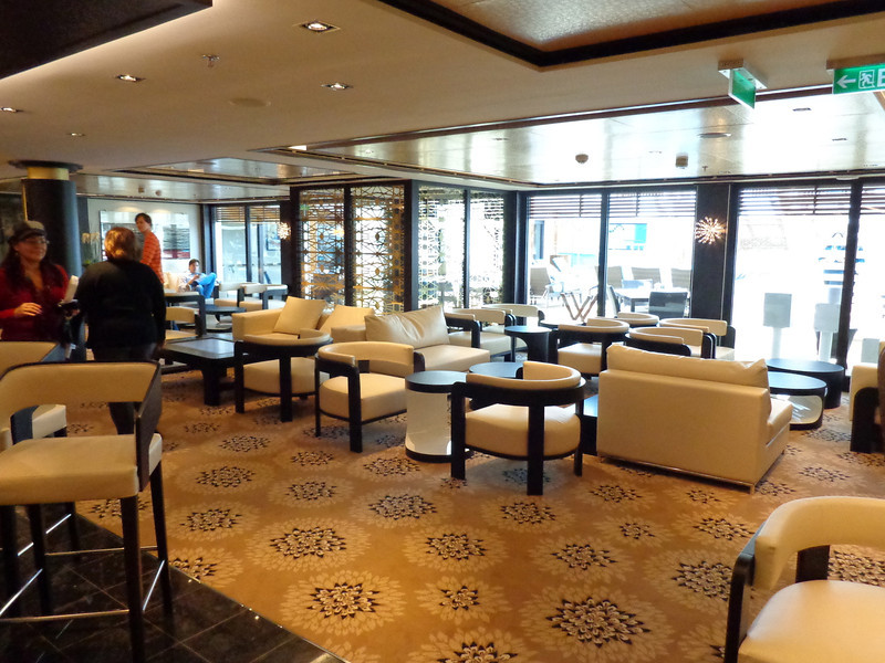 "Not only do ""Haven"" guests have access to a private restaurant onboard but they also have this private lounge as well."