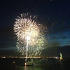 "Fireworks in front of the ""Statue of Liberty"" on a gorgeous New York night... very nice! :-)"